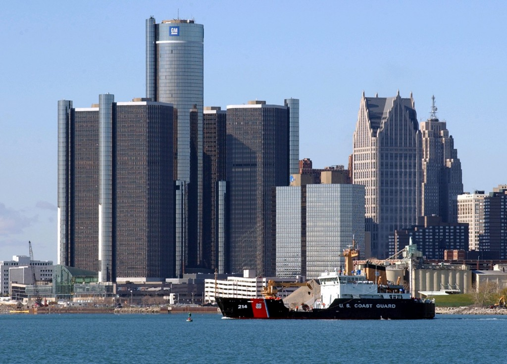 Detroit's showcase Renaissance Center has unintended consequences for Motor City's old downtown. (Courtesy of General Motors)
