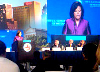 Mayor Rawlings-Blake speaking at a previous meeting of the U.S. Conference of Mayors. (USCM)