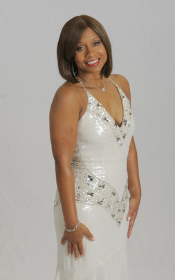 Lisa Harris Jones in $2,500 Victor Rossi gown. (Baltimore Sun)