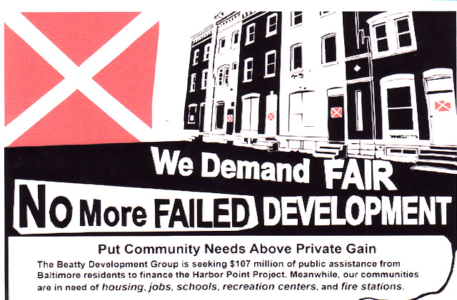 Opponents of the Harbor Place's tax break plan to rally in front of City Hall at 4 p.m. Wednesday.