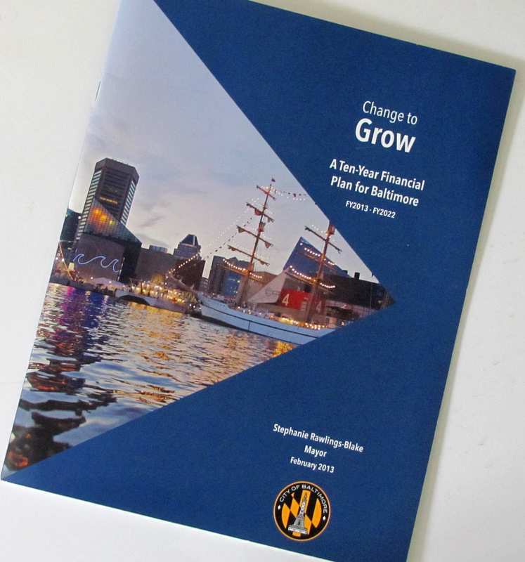 Front cover of the mayor's 10-year plan to