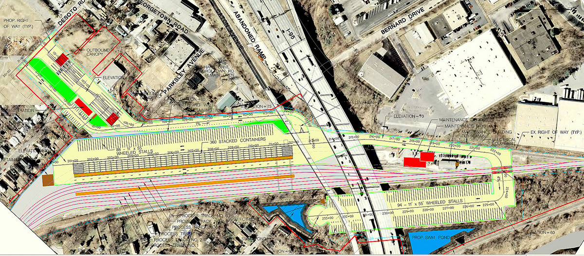 Outlines of the facility, from the city's Transportation Impact Study.