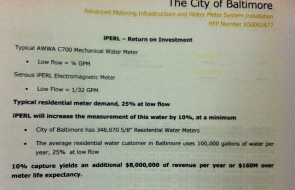 The Dynis bid details how the city will gain $160 million in new revenues from its smart meters. (Dynis LLC bid)