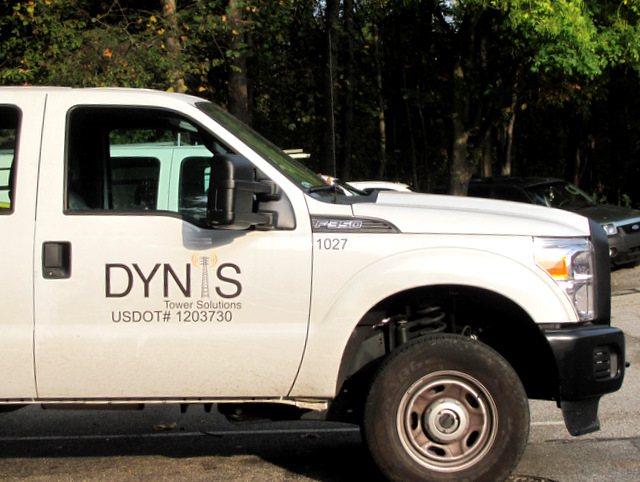 Dynis' established business is repairing cell towers. (Photo by Mark Reutter)