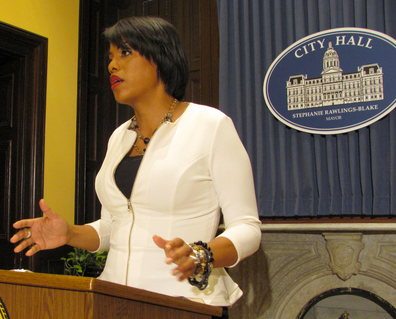 Mayor Rawlings-Blake talks about smart meters at a press availability on Wednesday. (Photo by Mark Reutter)