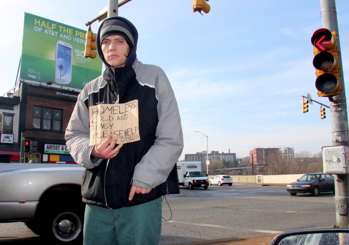 A bill that makes panhandling in a median or road shoulder illegal is under consideration by the Baltimore City Council.