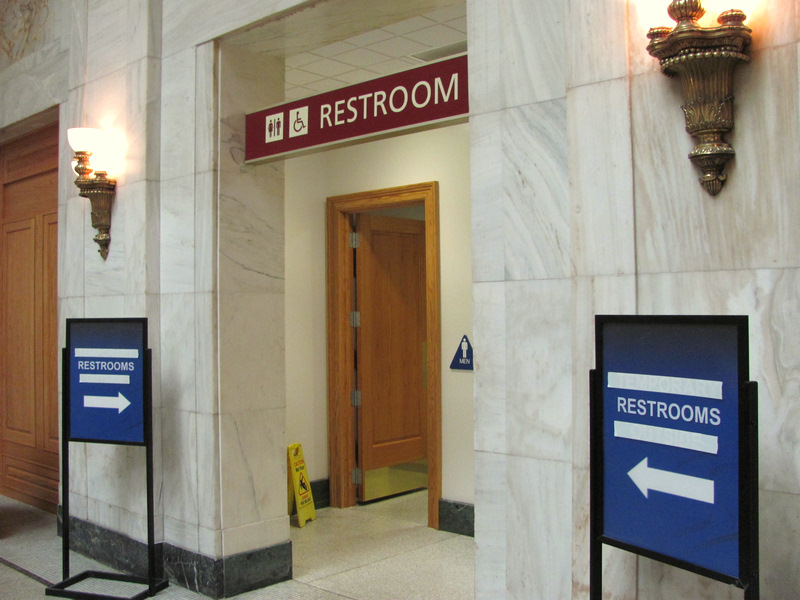 penn station restroom
