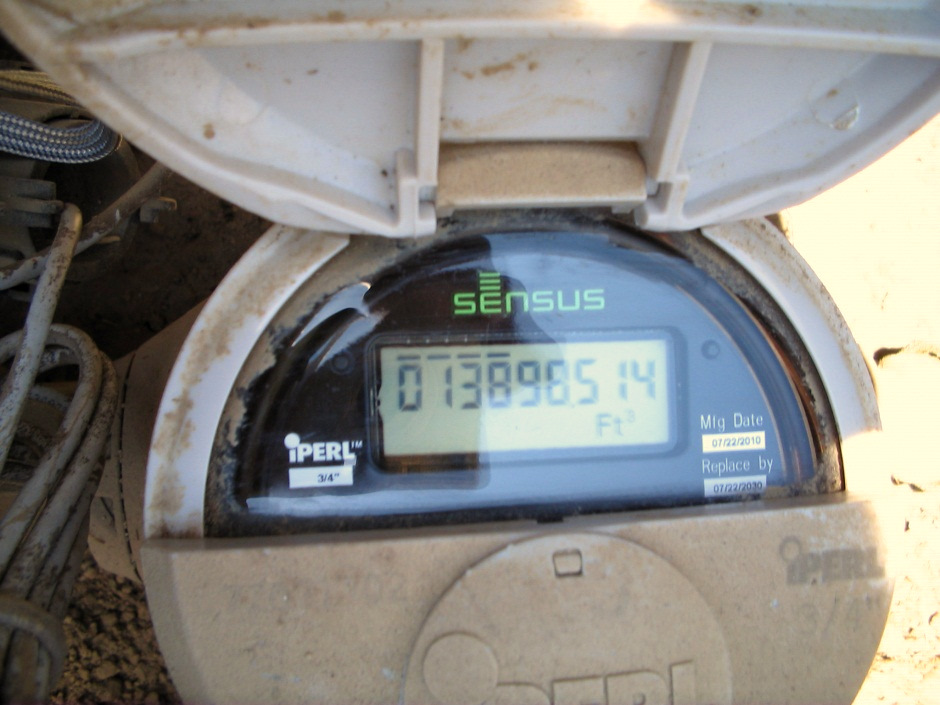 The Dynis bid calls for the installation of Sensus digital meters in plastic casings to permit wireless transmission. (Sensus Metering)