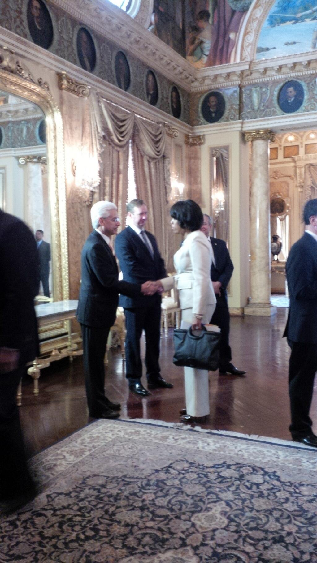 Mayor Stephanie Rawlings-Blake at the presidential palace. (@MayorSRB Twitter)