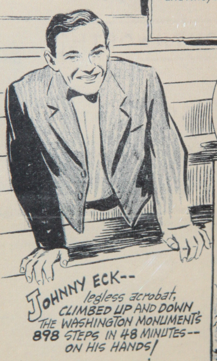 Eck's exploits were celebrated in films, comic strips and around the world. (Photo by Fern Shen)