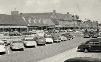 The Village in its heyday in the 1950s and (below) today. (Courtesy of Edmondson Village Community Association; photo by Mark Reutter)