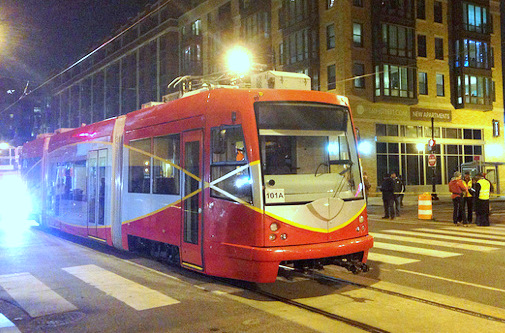 Testing Washington's new streetcars. First 2.4-mile segment set to open in 2014. (Photo by Dear Edward)