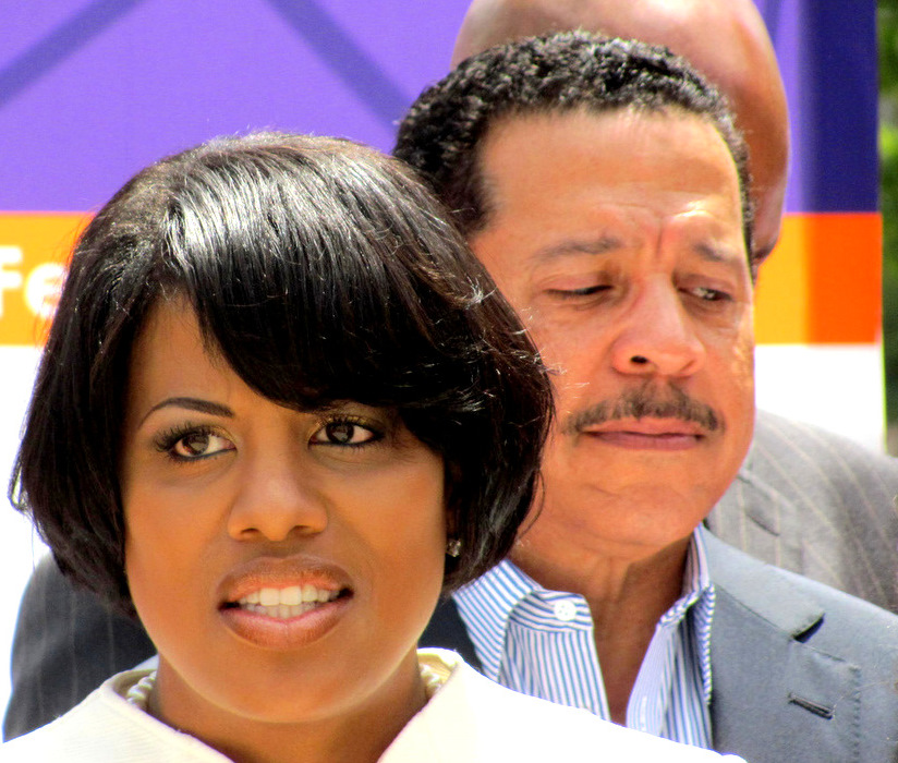 Mayor Rawlings-Blake with J.P. Grant in 2012, shortly after he agreed to organize the Grand Prix race. (Photo by Mark Reutter)