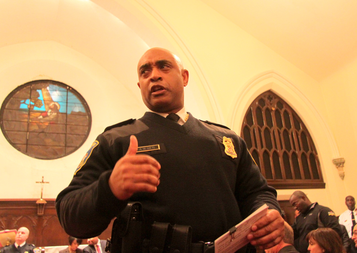 Police Commissioner Anthony Batts apologized to the crowd: