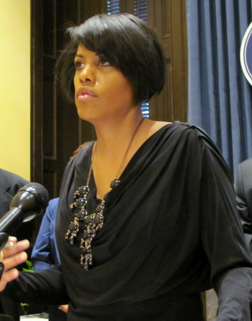 Mayor Rawlings-Blake said she was proud of the work accomplished with the federal stimulus funds. (Photo by Mark Reutter)