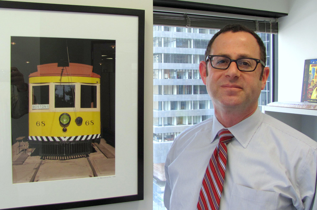 The Red Line's chief planner, Henry Kay, in his downtown office. (Photo by Mark Reutter)