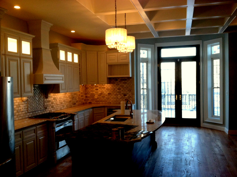The rehabbed kitchen of a Civil War rowhouse in Reservoir Hill. (Photo by Mark Reutter)