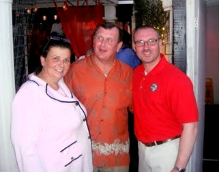 Colleen Martin-Lauer with ex-O'Malley aide Colm O'Comartun (right), now director of the Democratic Governors Association, in 2009. (Maryland Politics Watch)
