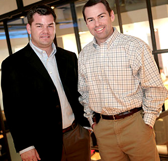 Plank's Broadway Pier partner Marc Weller with a former associate. (bisnow.com)