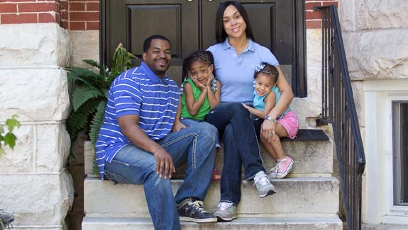 Marilyn Mosby with husband Nick and daughters Nylyn, 5, and Aniyah, 3. (Marilyn Mosby campaign slideshow)