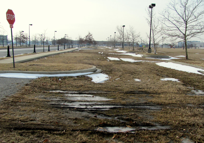What is planned for the Port Covington property linked to Kevin Plank? One of its unfinished roads earlier this year. (Photo by Mark Reutter)