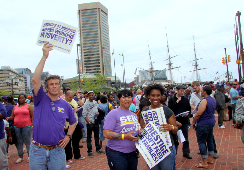 1199SEIU bused in people from D.C., Long Island and elsewhere to attend the