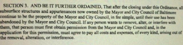 Ordinance 12-0158 closing Warner Street for the Horseshoe Casino calls on
