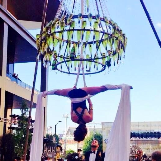 Daring and dramatic opening night aerialist sets the tone for Baltimore's new casino. (Photo: insidelooktvmagazine)