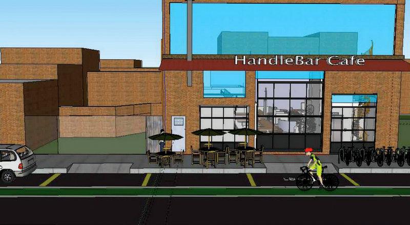 Developer's sketch of HandleBar Cafe.