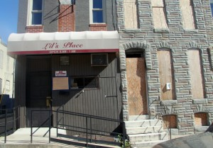 Lil's Place, in West Baltimore, in 2014. (Photo by Fern Shen)