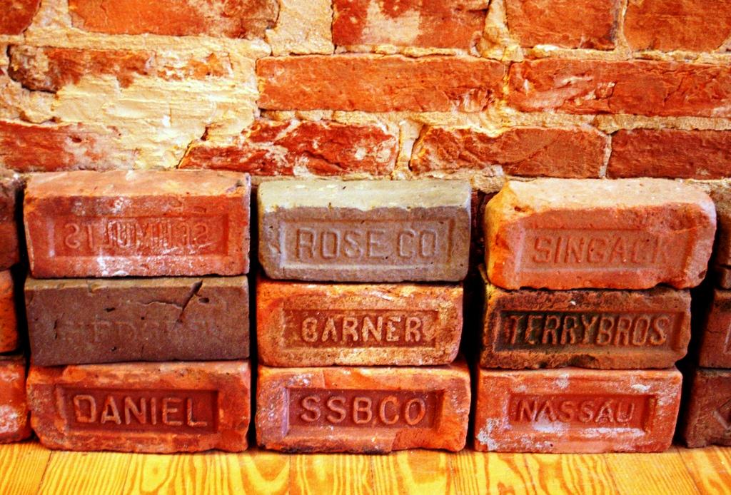 Bricks against the wall ////