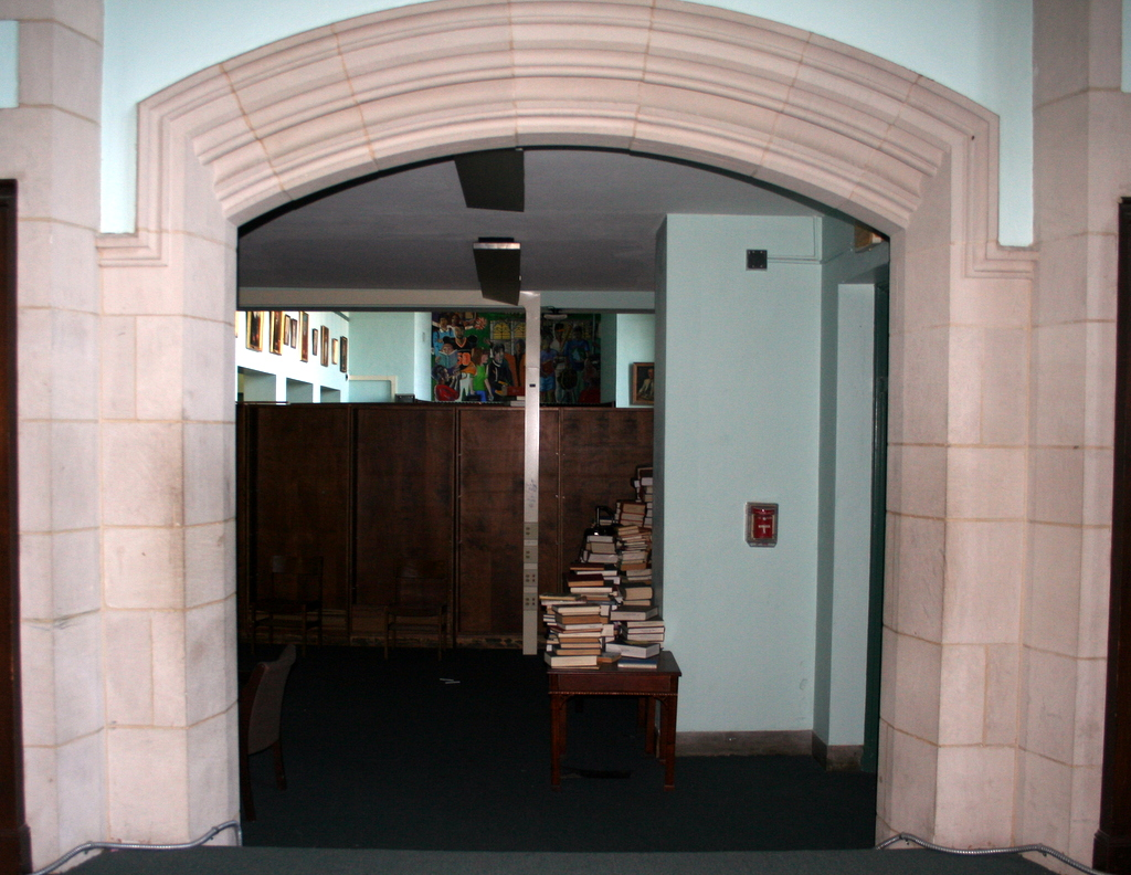 View of closed off portion of library