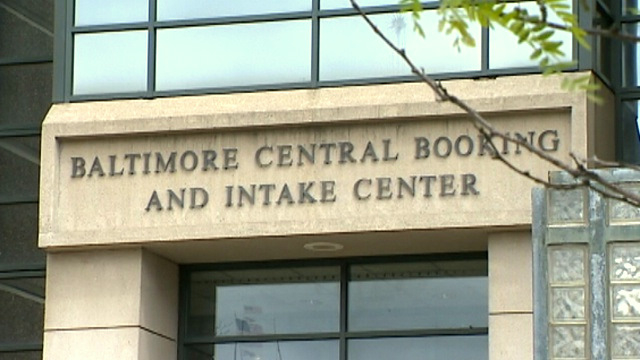 Central Booking where the author's clients are sent for processing and sometimes lengthy pre-trial jail time. (WBAL-TV)