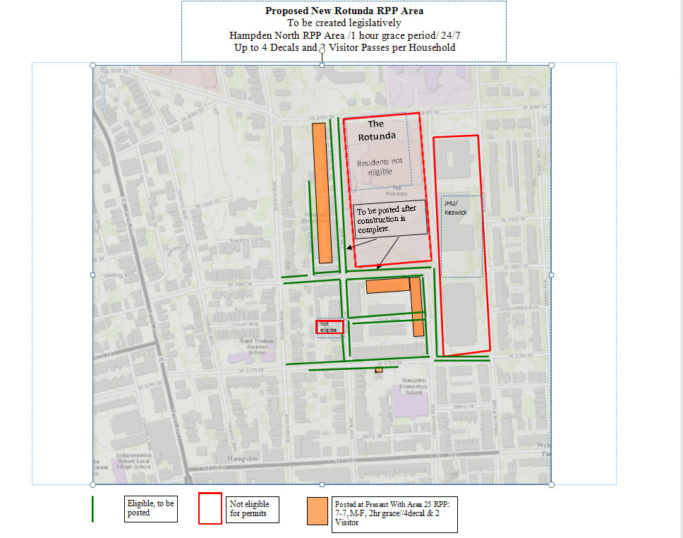 Hampden RPP amended boundaries. Source: City Councilwoman Mary Pat Clarke