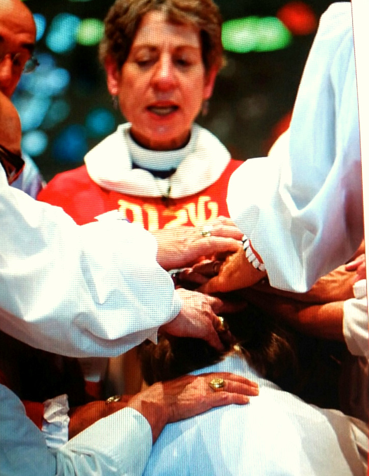 Presiding Bishop Katharine Jefferts Schori presides over