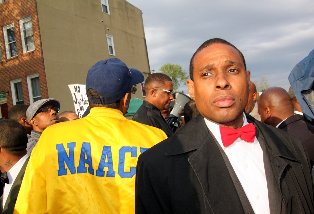 nation of islam naacp and others at freddie gray