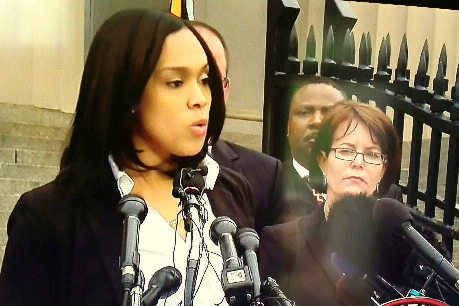 Marilyn Mosby announces charges against six police officers in the Freddie Gray case last Friday that pivoted her to national stardom. (CNN)