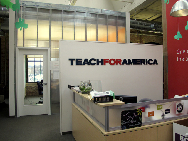 Teach for America offices at Miller's Court. (Photo courtesy of The Bruner Foundation)