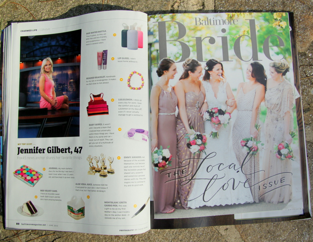 The brides wore white - and pretty much were white - in Baltimore Magazine's 2015 Baltimore Bride insert.