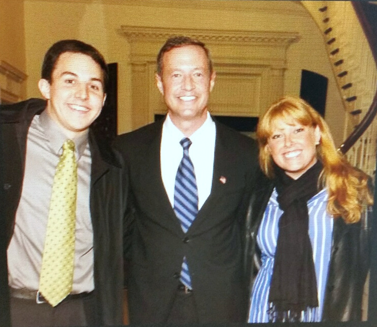 David Kosak and Stephanie Binetti pose with former Maryland Gov. Martin O'Malley in undated photo. (about.me)