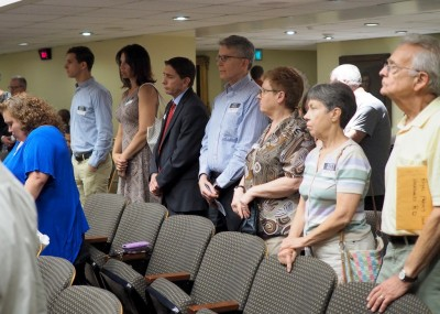 Communitymembers who came to the Royal Farms zoning hearing but were not permitted to testify. (Photo by Sam Manas)