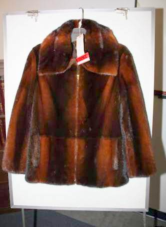 The burnt umber mink jacket Sheila Dixon paid for by developer Ron Lipscomb, as it looked afterwards on EBay. (Photo: cbslocal.com)