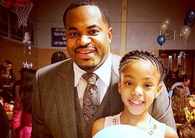 A photo Nick Mosby posted showing him and his daughter at a March school event got 500