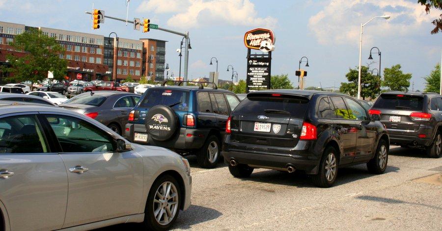 Boston Street traffic during rush hour.  (Photo by Danielle Sweeney)