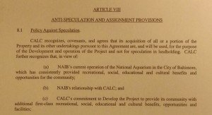 The anti-speculation provisions in Article 8 of the 2004 land disposition contract.