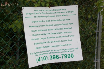 Sign at Swann Park shot on Aug. 31, 2015. (Photo by Fern Shen)