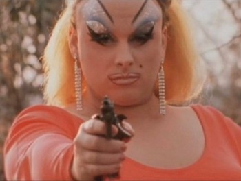 Harris Glenn Milstead, as Divine, in Pink Flamingos. (moviesteve.com)