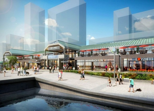 The harbor side of the Pratt Street Pavilion. (Credit: Ashkenazy Acquisition Corp.)