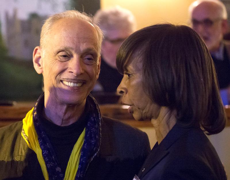 Filmmaker Johns Waters last night with mayoral hopeful Sen. Catherine E. Pugh. (Jason Putsche Photography)