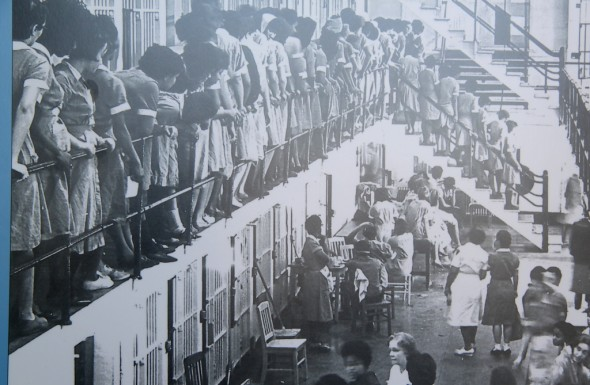Women's section of the city jail where students were held after protesting Baltimore theater's whites-only policy. (Photo: Morgan State University exhibit.)